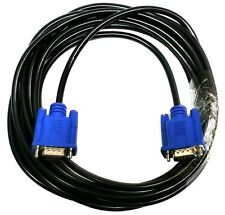 2 PACK 5FT SVGA 15 PIN Male To Male SUPER VGA Monitor Extension Cord Cable Blue