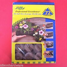 Jiffy Professional Greenhouse Seed Starter Kit 72 Cell Peat Pellet Refill J3R72