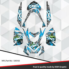 SKI-DOO XP MXZ SNOWMOBILE SLED WRAP GRAPHICS STICKER DECAL KIT 2008-2013 SA0102