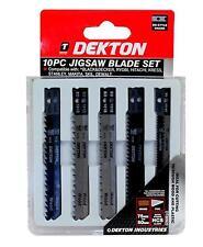 10PC jigsaw lame compatible (black & decker, dewalt, stanley) bois & plastique uk