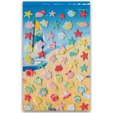 CUTE SHELLS STARFISH FELT STICKERS Sheet Beach Ocean Animal Scrapbook Sticker