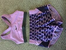 NWOT Nike Set Dri-FIT Purple Sports Bra Small / Shorts Running XS