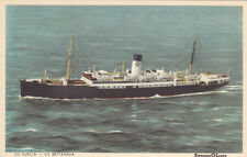 Postcard Ship SWEDEN LLOYD LINES S/S SUECIA S/S BRITANNIA unused single stack