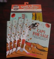 Caps For Sale E. Slobodkina New Scholastic Listening Center 5 Books with CD