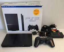 Sony PlayStation 2 Slim Charcoal Black Console (SCPH-75001CB) PS2 CIB In Box