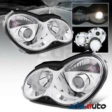 2001-2007 Mercedes-Benz W203 C-Class C230/C240/C320 Projector Chrome Headlights