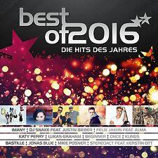 BEST OF 2016-DIE HITS DES JAHRES  2 CD NEU  CLUESO/JUSTIN BIEBER/FLUME/+