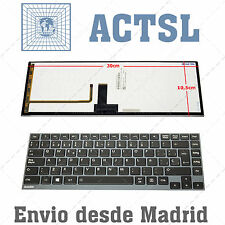 Keyboard Spanish for Toshiba Satellite Satelite Z930-K08S Gray Frame Black