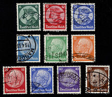 OPC 1932-3 Germany Sets Sc#391-400 Mi#467-473 479-481 Used