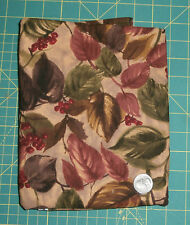 1 & 7/8 yards Autumn Leaves Berries JoAnn Fabrics Cotton Brown Green Red
