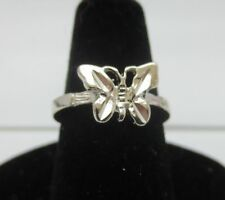 SIZE 1, 14KT WHITE GOLD EP BUTTERFLY, BABY,TOE, PINKIE, PROMISE RING