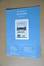 Vintage Service Manual. Fidelity IS systems Stereo Music Centre. Part no 44752