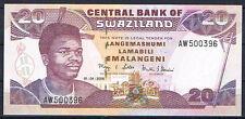 SWAZILAND 20 EMALANGENI 2006  Pick # 30c    SC  UNC