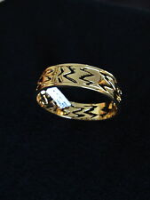 NEW ST JOHN KNIT WOMENS BRACELET DESIGNER GOLD COLOR BANGLE