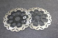 Black Motorcycle Front Brake Disc Rotors For Kawasaki ZX-9R B1-B4 1994-1997