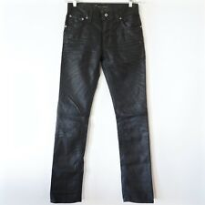 NUDIE JEANS DENIM THIN FINN BLACK COATED INDIGO NJ2897 W28 L32 MADE IN ITALY NWT