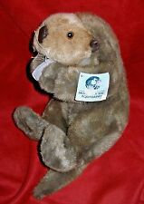"Sea Otter w/ Felt Shell from Monterey Bay Aquarium 1998 Plush 12"" w/hang tag"