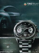 Publicité advertising 2007 Montre Tag Heuer Grand Carrera Calibre RS