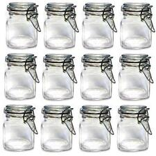 Kitchen Storage Glass Preserving Mini Jars With Clip Top Vase Canister Container
