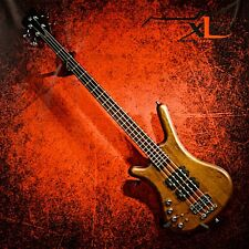 WARWICK LEFT HANDED PRO SERIES CORVETTE $$- 4 ANTIQUE TOBACCO LEFTY BASS GUITAR