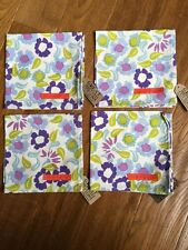 EMMA BRIDGEWATER Daisy Chain Design 4  x Cotton Napkins New With Tags (free p+p)