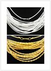 """50/100PCS Silver/Gold Plated Hollow Snake Chain Necklace With Clasp Long,16.5"""""""