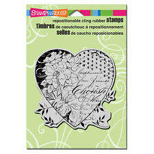 STAMPENDOUS RUBBER STAMPS CLING CHERISH HEART STAMP