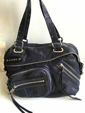 L.A.M.B. Gwen Stefani Corsaire Vane midnight blue leather satchel bag $348