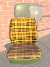 Westfalia Front Seat Full Back Cover VW T2 Late Bay Yellow Plaid as Orig. C9252Y