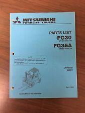 Mitsubshi Forklift Parts Manual FG30 and FG35A
