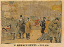 PARIS SALON DE L' AUTOMOBILE VISITE LEOPOLD ROI DE BELGIQUE IMAGE 1902