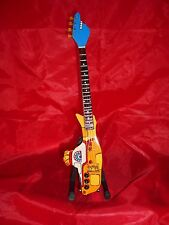 The Beatles Yellow Submarine Shaped  Miniature Tribute Guitar (UK SELLER)