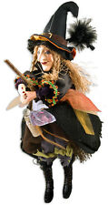 Witches of Pendle - Alice Nutter Witch Flying (Brown) 50cm