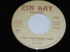 AL BOLT NM Paint Your World Happy 45 I'm In Love with My Pet Rock 109 cin-kay 7""