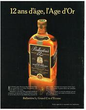 PUBLICITE ADVERTISING   1987   BALLANTINE'S  very old scotch Whisky