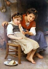 The Little Sulk by William Bouguereau Canvas or Giclee Picture Poster Print NEW