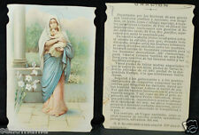 OLD BLESSED VIRGIN MARY AND CHILD JESUS HOLY CARD YEAR ANDACHTSBILD SANTINI C921