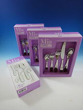 MIA BY RICCI STAINLESS FLATWARE TABLEWARE SET SERVICE 12 NEW 65 PCS MODERN