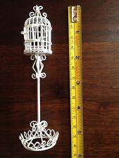 Miniature Dollhouse Fairy Garden Furniture 1:12 White Wire Bird Cage NEW