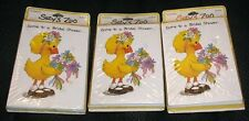 Suzy's Zoo BRIDAL SHOWER Suzy Ducken Set of 3 30 Total Invitations Cards Vintage