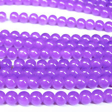 Hot 100pcs 4mm Deep Purple Czech Crystal Jewelry Charm Loose Round Beads
