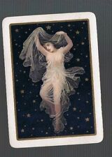 Playing  Cards 1 VINT ENG WIDE ELEGANT  NUDE  LADY DRAPED   EXQUISITE 105EW