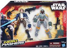 Star Wars Deluxe Twin Pack Héroe Mashers Boba Fett & Han Solo