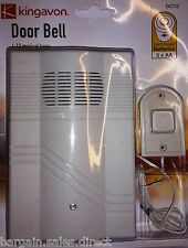 KINGAVON WALL MOUNTABLE WIRE DOOR CHIME BELL WITH 12 MUSICAL TUNES MELODIES