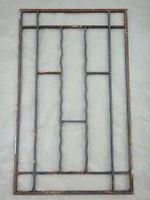 Ancienne grile de porte en fer forgé, 100 X 61 cm