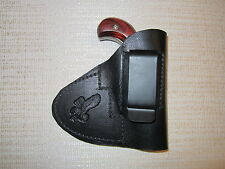 NAA mini revolver,22 short,22 long rifle & 22 mag., leather Iwb & pocket holster