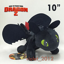How to Train Your Dragon 2 Toothless Plush Night Fury Soft Toy Stuffed Teddy 10""