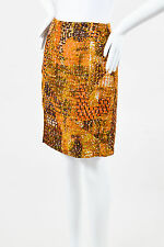 Bazar de Christian Lacroix Multicolor Textured Velvet Straight Skirt SZ 40