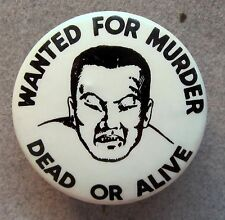 40's WWII WANTED FOR MURDER DEAD OR ALIVE Anti Japan pinback button Propaganda *