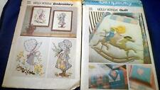 Holly Hobbie Pattern Lot Simplicity 6702  Quilt 6005 Embroidery One Size